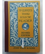 Vintage McGuffey's Third Eclectic Reader Hardcover Book Educational Home... - $11.63