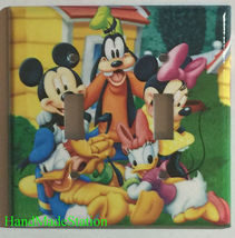 Mickey Minnie Donald Duck Light Switch Power Outlet wall Cover Plate Home decor image 7