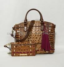 NWT Set Brahmin Duxbury Satchel/Shoulder Bag + Debra Wallet Toasted Almond Hayes - $439.00