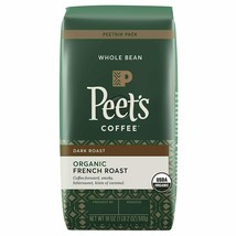 Peet's Coffee Organic French Roast, Dark Roast Whole Bean Coffee, 18 oz - $24.65