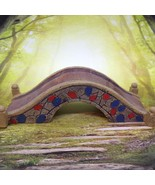 Miniature ARCHED BRIDGE Fairy Garden Doll House Diorama Christmas Train ... - $4.80