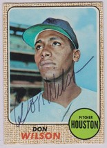 Don Wilson (d. 1975) Signed Autographed 1968 Topps Baseball Card - Houst... - $99.99
