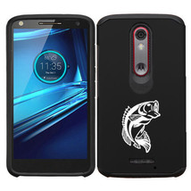For Motorola Droid Turbo 2 Shockproof Impact Hard Soft Case Cover Bass Fish - $14.99