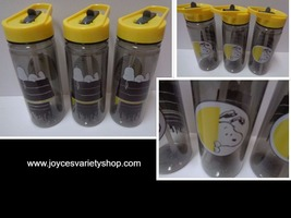 ZAK Snoopy Peanuts Tumblers Water Bottles NWT 16 oz BPA Free Lot of 3 - $14.99