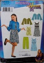 Uncut Pattern Girls Dress Jacket Mini Dress Tunic Pants Sizes 8 10 12 14... - $7.00