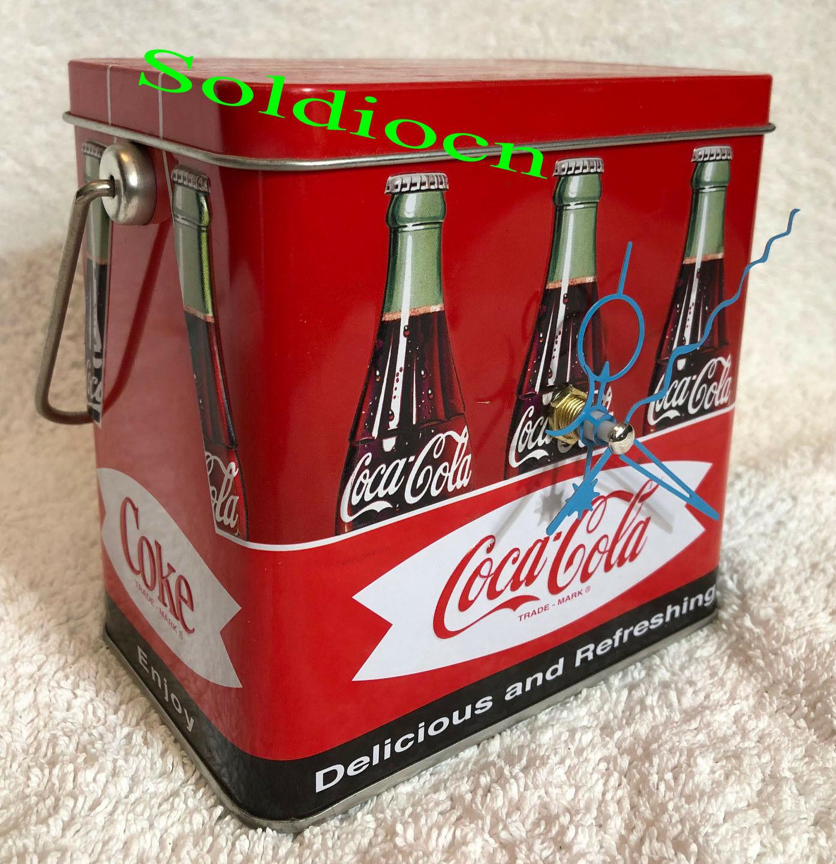 Coke  aluminum tin music box clock