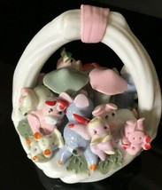 Playful Pigs Ceramic Figurine 3.5 inch tall Home Decor - $11.99