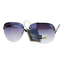 Womens Rimless Aviator Sunglasses Designer Fashion Top Bar Aviators - $8.95