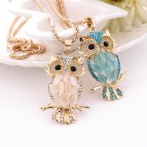 NEW Fashion Women Necklace Charm Crystal Owl Choker Cute Pendant - ₹985.52 INR