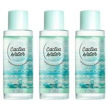 3 Pc Victoria's Secret PINK Cactus Water Fragrance Mist Set New - $40.19