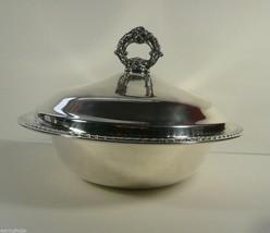 "Vintage FB Rogers Silverplate 10"" Bowl with Lid in Original Bag - $29.99"