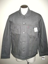 Levi's Mens Button up Denim Trucker Jean Jacket Rigid Grey 707970002 NWT... - $42.49