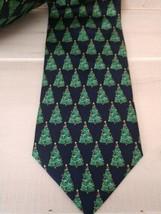 Christmas Tree Neck Tie Men's Belk Tis The Season 100% Silk Handmade NWT... - $12.64