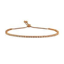 14k Rose Gold Adjustable Bracelet with Diamonds  - $1,300.00