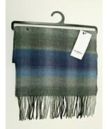 Blue Plaid Scarf Fringe One Size Mens Goodfellow & Co. Shawl - $15.99