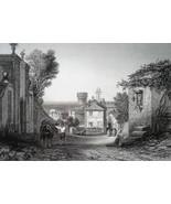 ITALY Pratica Ancient Livinium - 1864 Fine Quality Print Engraving - $39.60