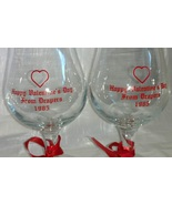 Beer Glass Hurricane Cocktail Glasses Draper's Lounge 1985 Apple Valley CA - $19.99