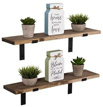 Imperative Décor Rustic Wood Floating Shelves Wall Mounted Storage Shelf... - $58.02