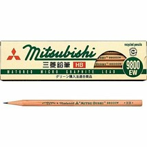 K9800EWHB Mitsubishi recycled pencil 9800EW HB 12 pieces - $7.46