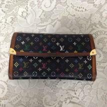 Authentic, Rare, Louis Vuitton Black Mono Tri-Fold -Zip Wallet 7.5in x 4.5in - $189.95