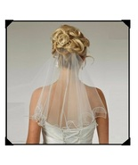 Simple Flare One Layer Elbow Length Soft Tulle Rolled Pencil Edge Weddin... - $37.95