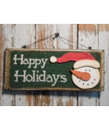Snowman with Hat  Decor 5733 - Happy Holidays Sign  - $5.95