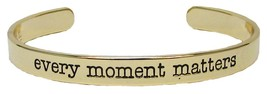 Every Moment Matters Gold Cuff Bangle Bracelet Inspirational Jewelry Stackable - $12.65