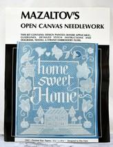 Vintage Mazaltov's Open Canvas Needlework Kit #CS27 Home Sweet Home - Op... - $28.45