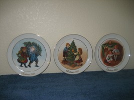 1981 1982 1983 Avon Christmas Memories First Second Third Ed Collector Plates - $13.98