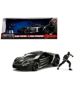 Lykan Hypersport Black with Black Panther Diecast Figure Marvel Series 1... - $48.85
