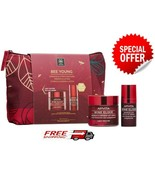 Apivita Promo Bee Young Wine Elixir LIGHT Cream Set 50ml Elixir Eye+ Lip... - $52.96