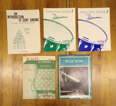 Instrument Sheetbook Music 5 Book Lot: Sight Singing, Drums, Scales for ... - $6.90