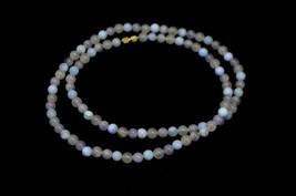Purple Pink Agate Quartz Polished Bead Beaded Choker Necklace Vintage - $29.69