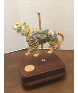 San Francisco Music Box Carousel Tiger Am. Treasures Collection Chariots... - $49.50