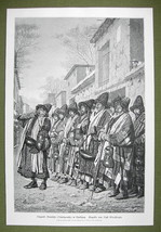 TURKESTAN former Russia Dervishes of Bokhara  - VICTORIAN Era Engraving ... - $16.20