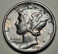 DEEP TONED COLOR 1944 P USA MERCURY DIME 10 CENTS SILVER BU UNC (DR) - $26.25