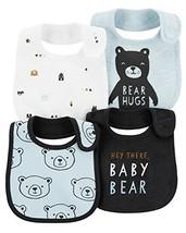 Carter's Baby Boys' 4-Pack Teething Bibs Blue/Bear - $24.83