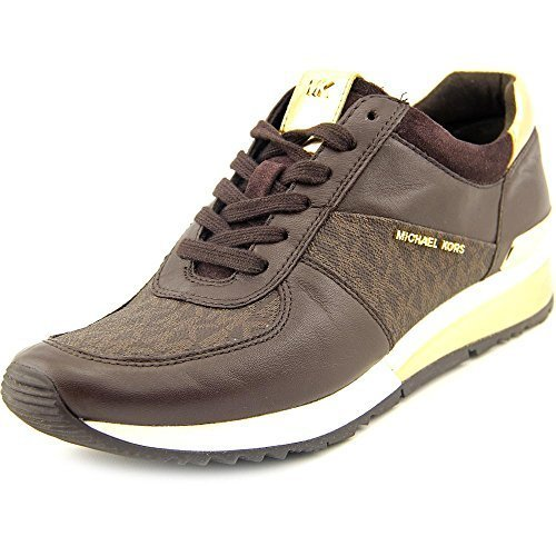 MICHAEL Michael Kors Women's Allie Trainer Brown Suprema Nappa Sport/Mini MK Log