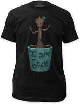 T-Shirts Sizes S-2XL New Guardians of the Galaxy Dancing Groot Adult Tee... - $26.40+