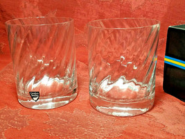 RARE 2 PER BOX ORREFORS Double Old Fashioned Glasses SWEDEN Gunnar Cyrén NIB image 2