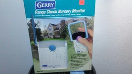GERRY BABY NURSERY MONITOR & RECEIVER W/ Rest Assured ~ TESTED WORKS ~ - $18.69