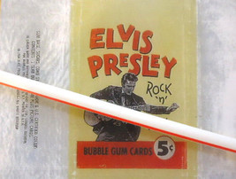Elvis Presley 5 Cent Wrapper Reproduction FREE With  1956 Card Purchase - $7.87