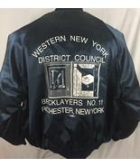 VTG Western New York District Bricklayers No. 11 Rochester NY Blue Jacke... - $53.45