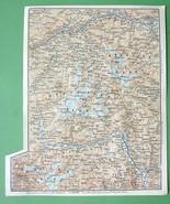 1896 MAP ORIGINAL Baedeker - ITALY & Austria Alps Wildspitze Otztaler Tessa - $4.73