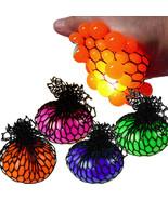 Grapes Flashing Mesh Squeeze Stress Balls Assorted Colors 2 Pcs Set LED ... - $11.85