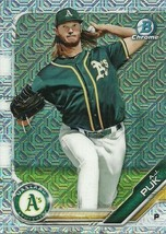 2019 BOWMAN CHROME MEGA BOX MOJO REFRACTOR BCP17 A.J. PUK RC ATHLETICS - $1.89