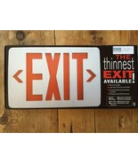 """Super Thin Exit Sign - 7/8's """" - Red LED  - LED Free Shipping! New In Box - $17.09"""