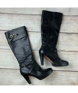 Cole Haan womens NikeAir Tall Knee High Black Leather Platform Boots Sexy 10 B - $89.00