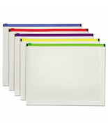"""Pendaflex Poly Zip Envelope Open Side, Assorted Colors 10"""" x 13"""", 5 Pack - $15.49"""