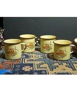 4 Vintage Monterrey Ware 1950's Enamelware Chuck Western Coffee Mugs - $37.53